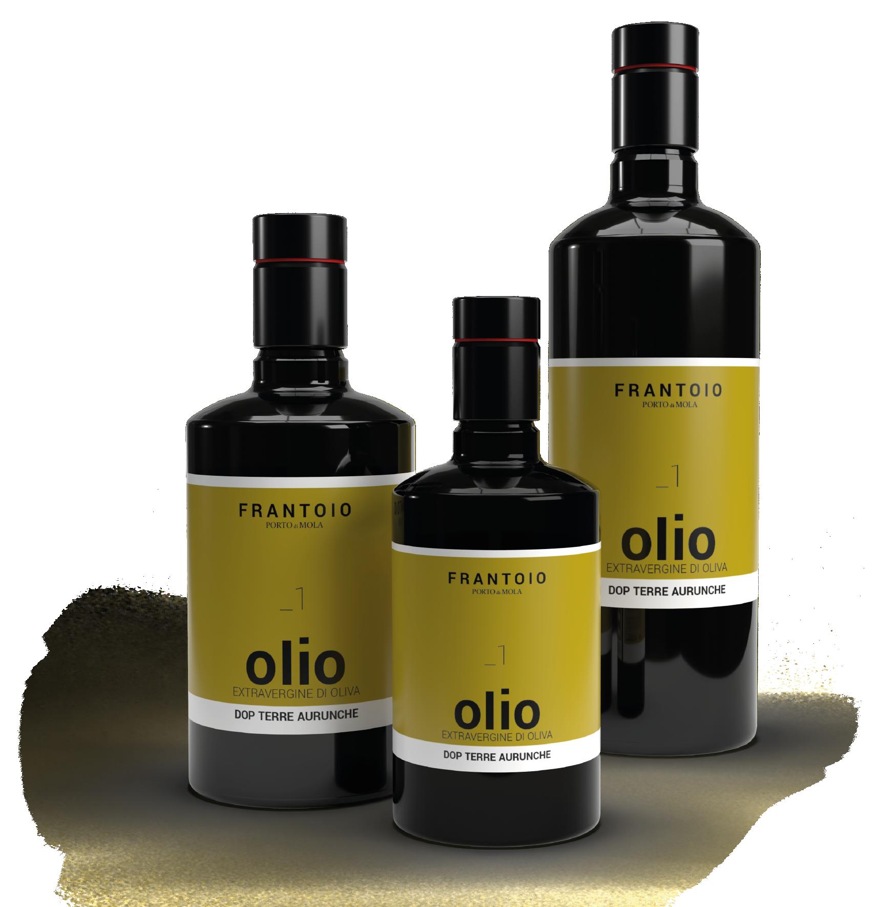 Bottiglie di Extravergine Di Oliva DOP delle Terre Aurunche