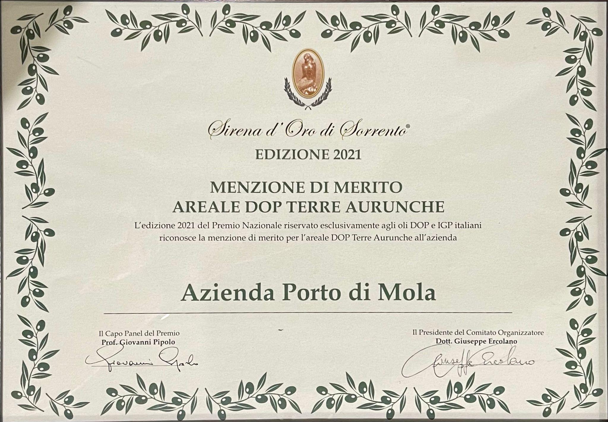 Premio Sirena d'oro di Sorrento 2021